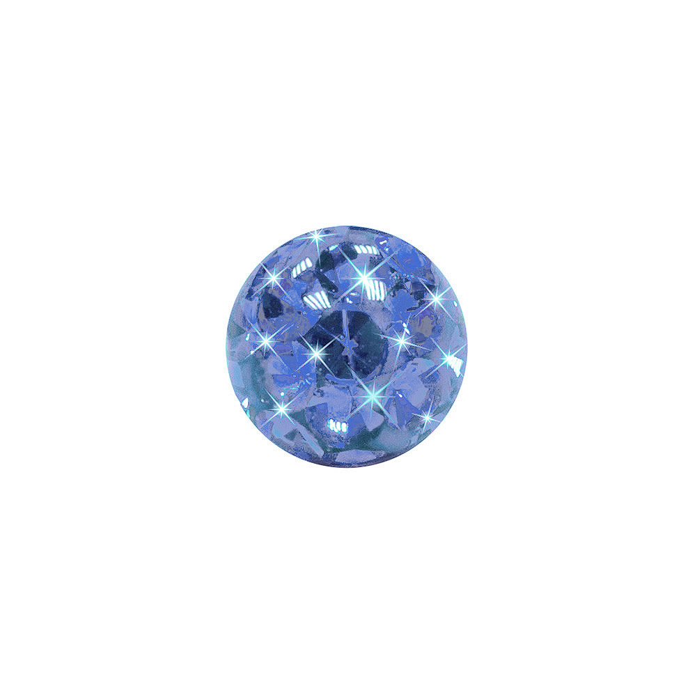 Blue Banana Surgical Steel 3mm Glitter Ball (Capri)