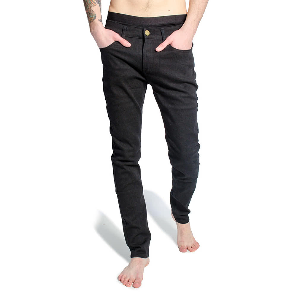 Criminal Damage SOS Skinny Fit Jeans (Black)
