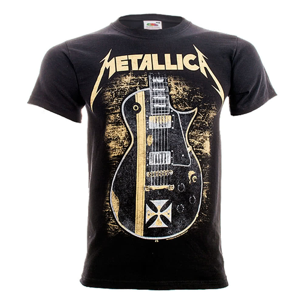 Official Metallica Hetfield Iron Cross T Shirt (Black)