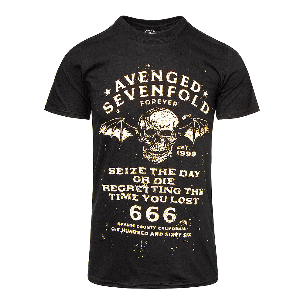 Official Avenged Sevenfold Seize The Day T Shirt (Black)