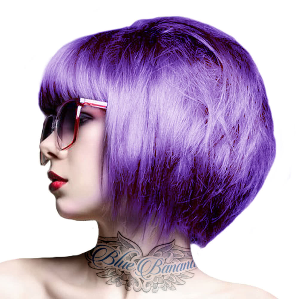Crazy Color Semi-Permanent Hair Dye 100ml (Hot Purple)