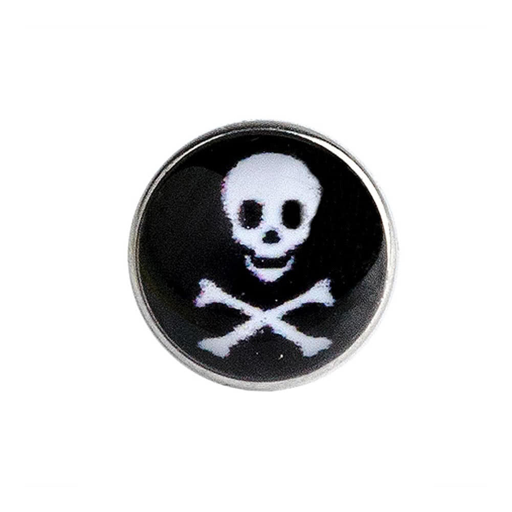 Blue Banana Skull 5mm Dermal Top (Black)