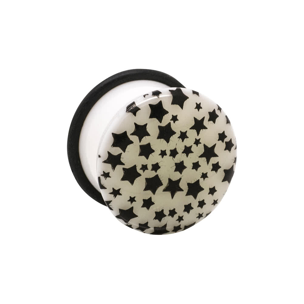 Blue Banana Glow Multi Stars Plug 14-24mm (White)