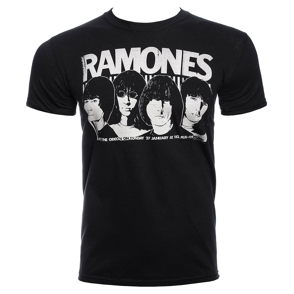Official Ramones Odeon Poster T Shirt (Black)