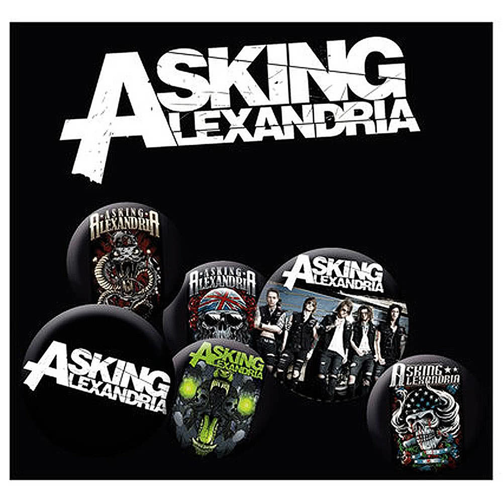 Official Asking Alexandria Badge Pack
