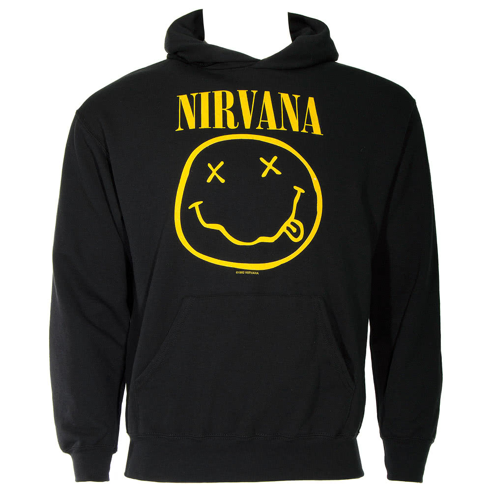 Official Nirvana Smiley Hoodie (Black)