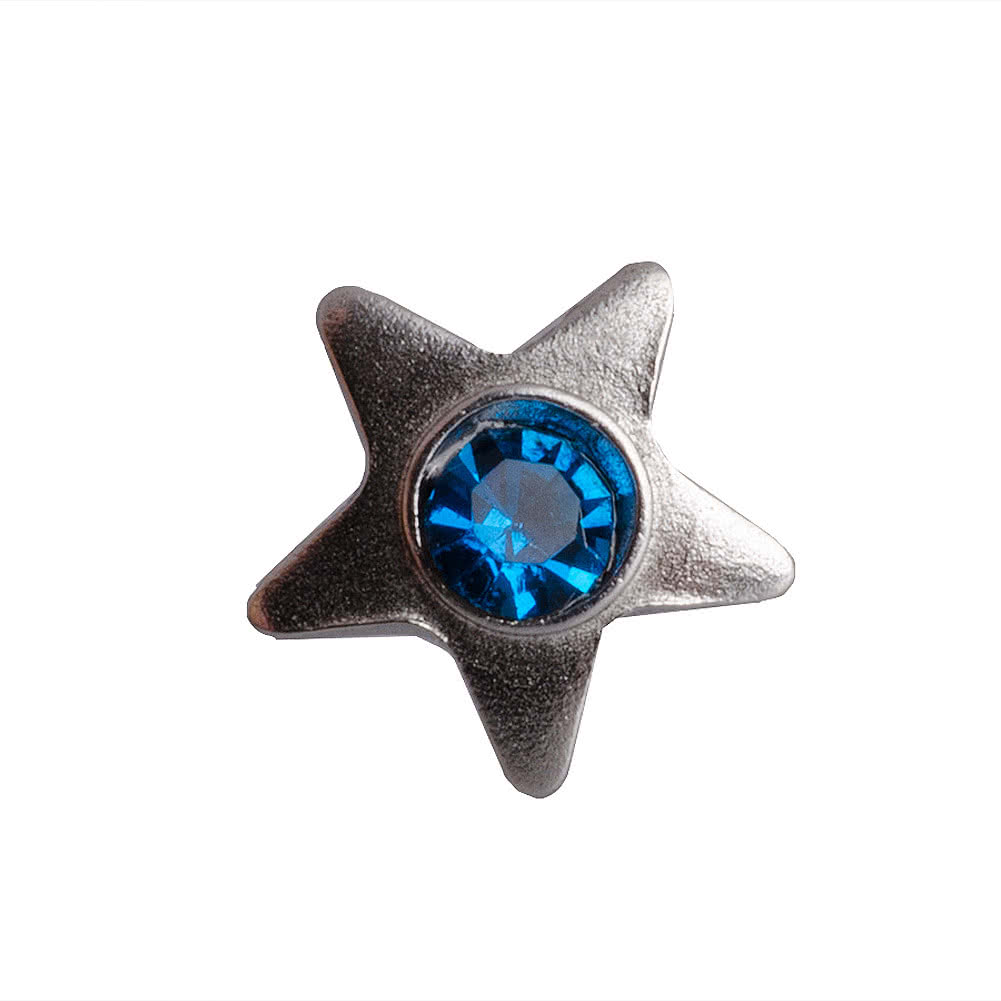 Blue Banana Surgical Steel 3mm Dermal Top Star (Aqua)