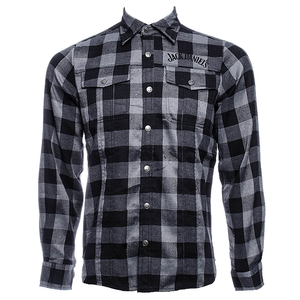 Jack Daniels Checked Shirt (Black/Grey)