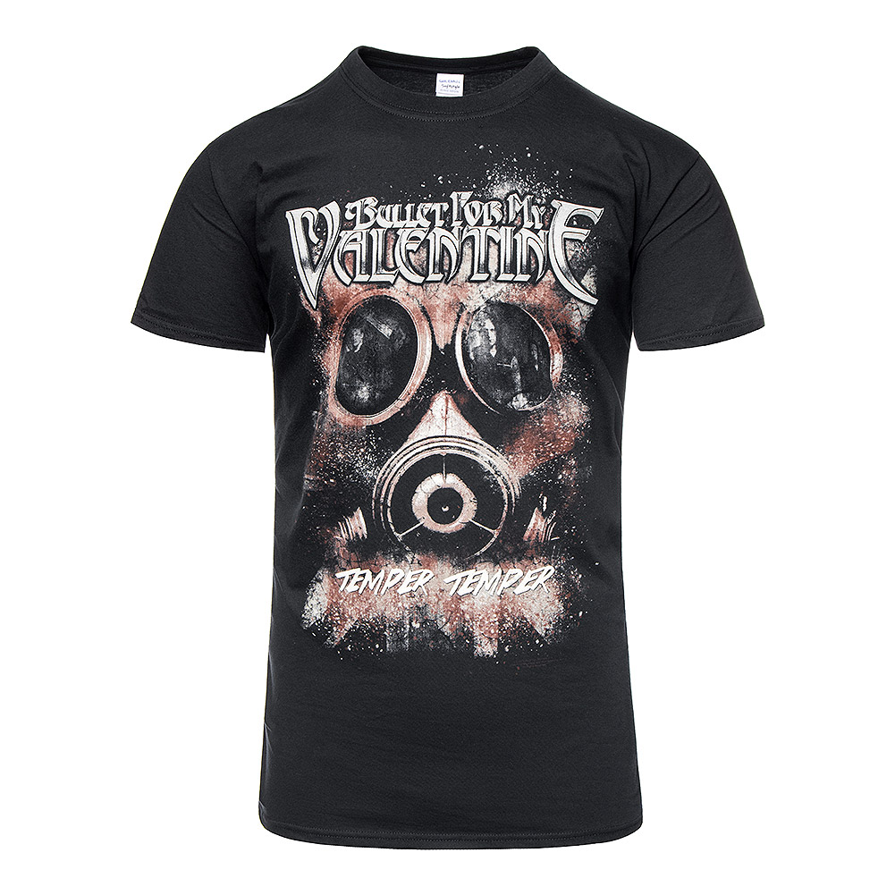 Bullet For My Valentine Temper Temper Gas Mask T Shirt Bfmv Tee