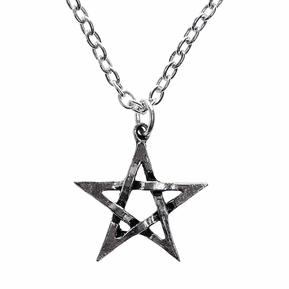 Alchemy Gothic Pentagram Pendant Necklace (Silver)
