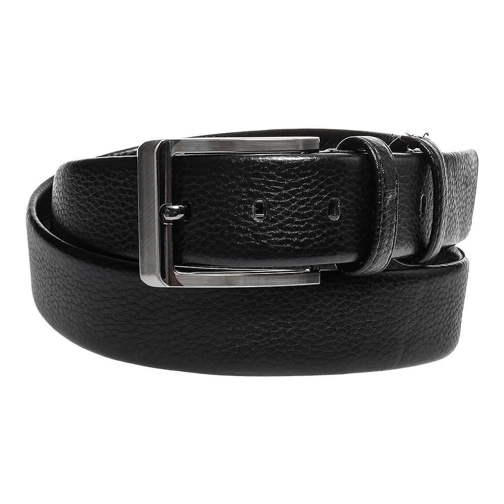 Blue Banana Grain Leather Belt (Black)