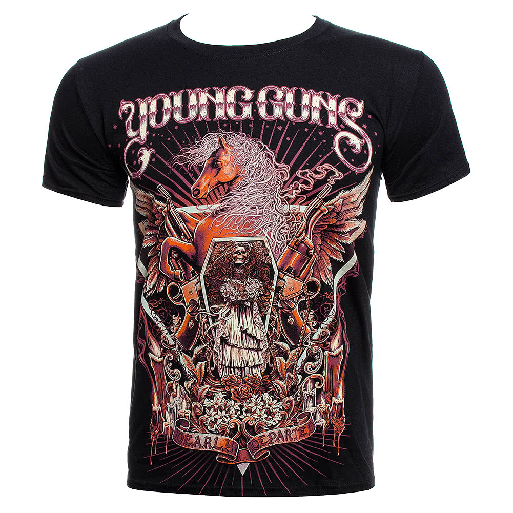 Official Young Guns Horses & Gun T Shirt (Black)