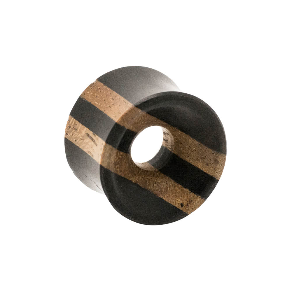 Blue Banana Wood Ebony Flesh Tunnel 8-16mm (Brown)