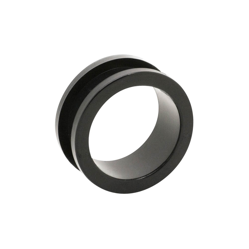 Blue Banana Acrylic Flesh Tunnel 2-24mm (Black)