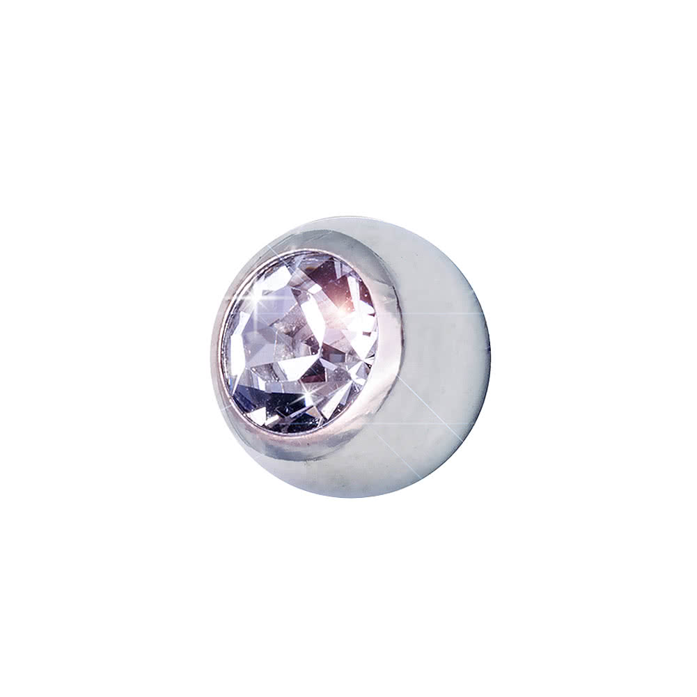 Blue Banana Steel Jewelled Ball 3mm (Crystal)