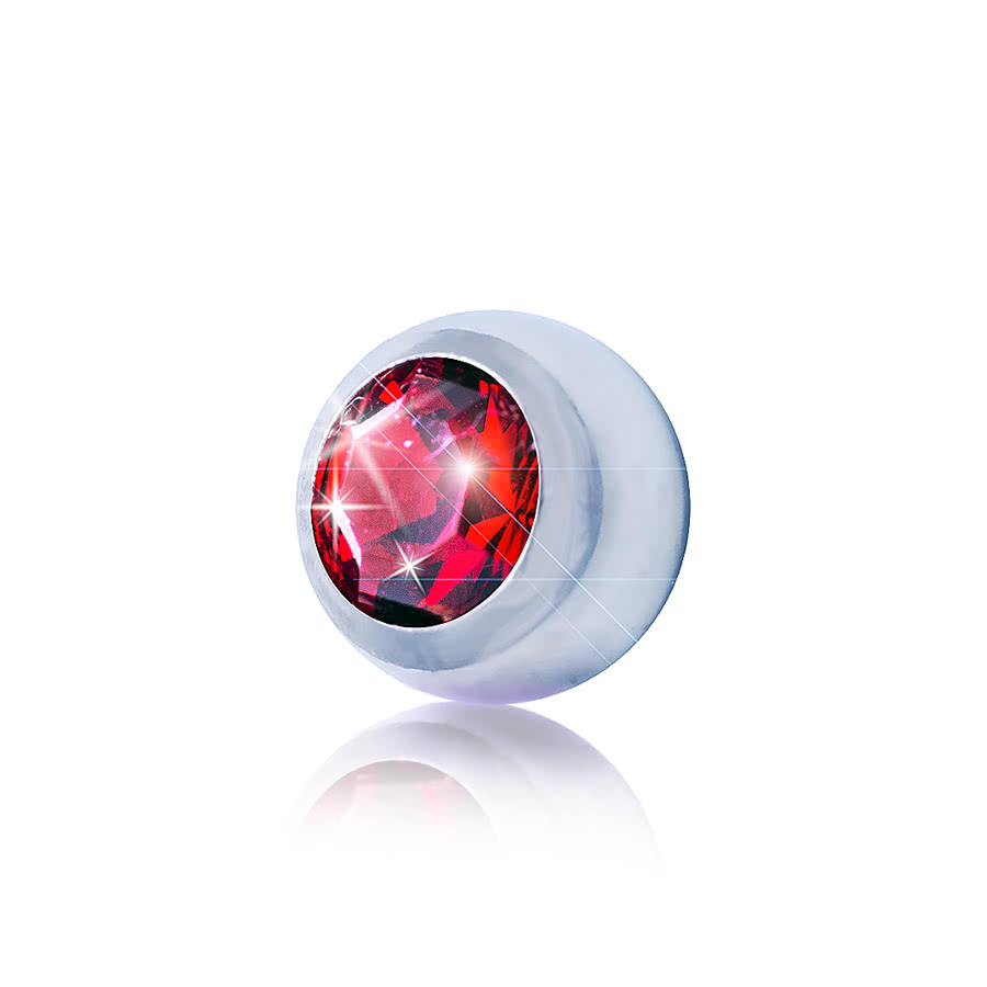 Blue Banana Surgical Steel 3mm Jewelled Ball (Siam)