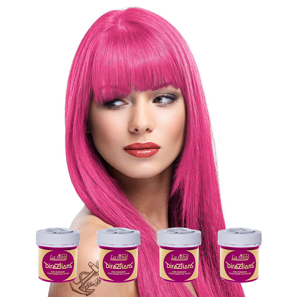 La Riche Directions Colour Hair Dye 4 Pack 88ml (Pink Carnation)