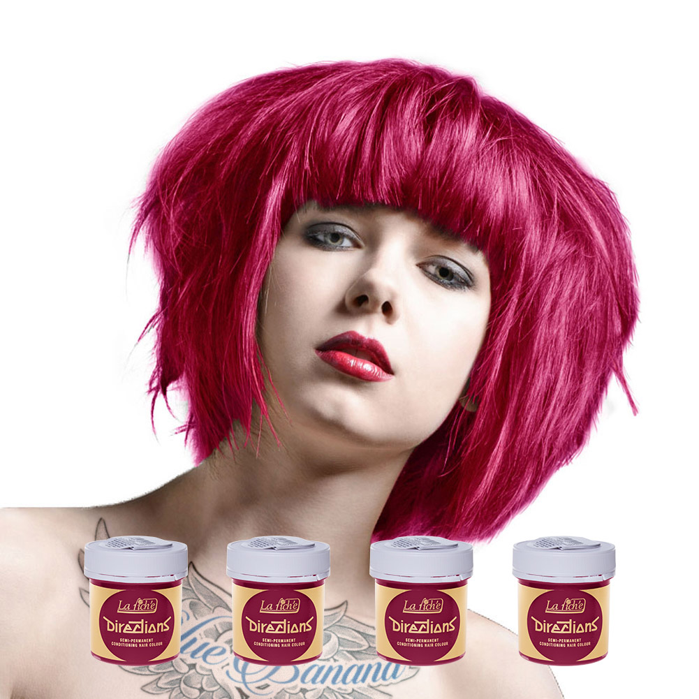 La Riche Directions Colour Hair Dye 4 Pack 88ml (Pink Flamingo)