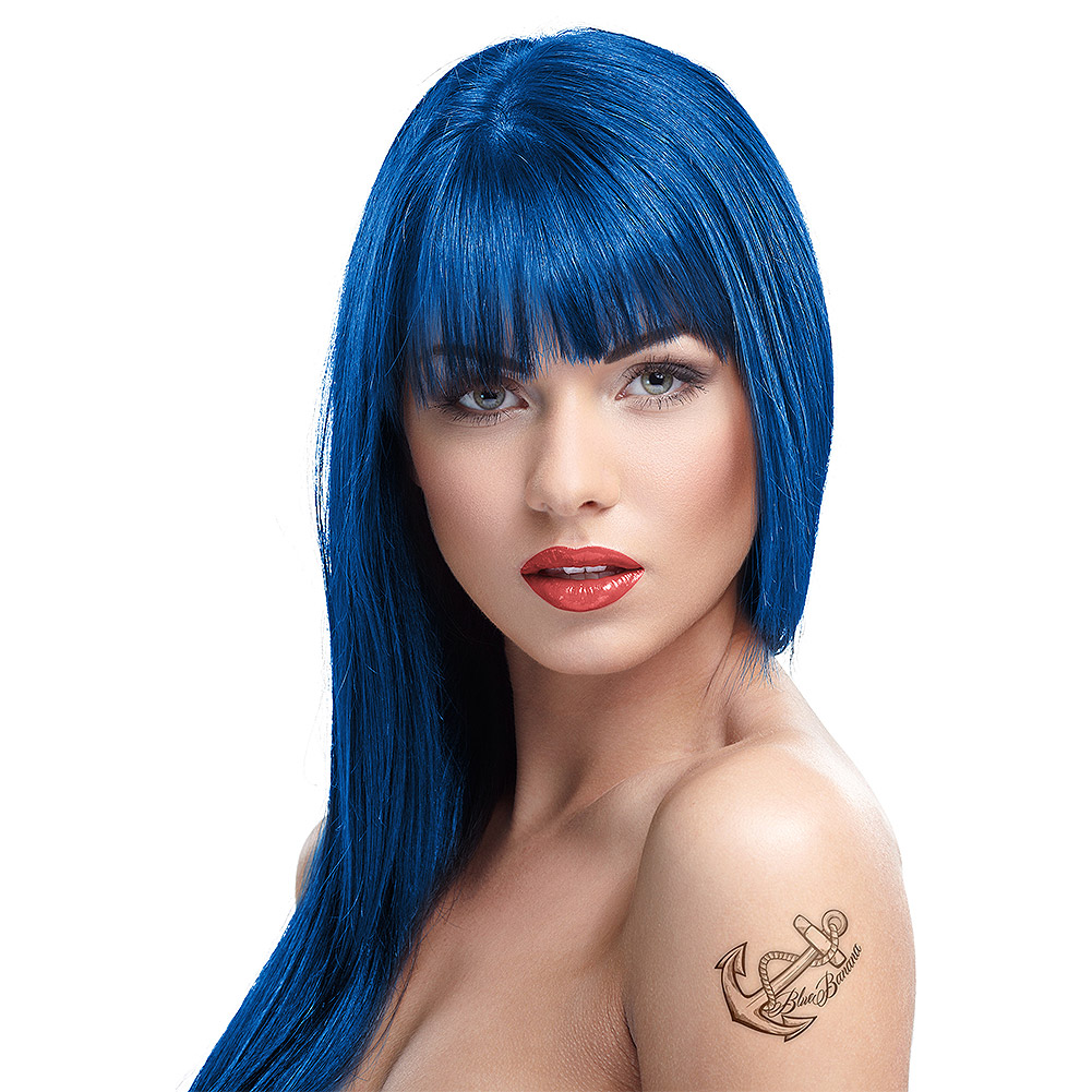Tintura Per Capelli Semi-Permanente 100ml Crazy Color (Blu Capri - Blu)