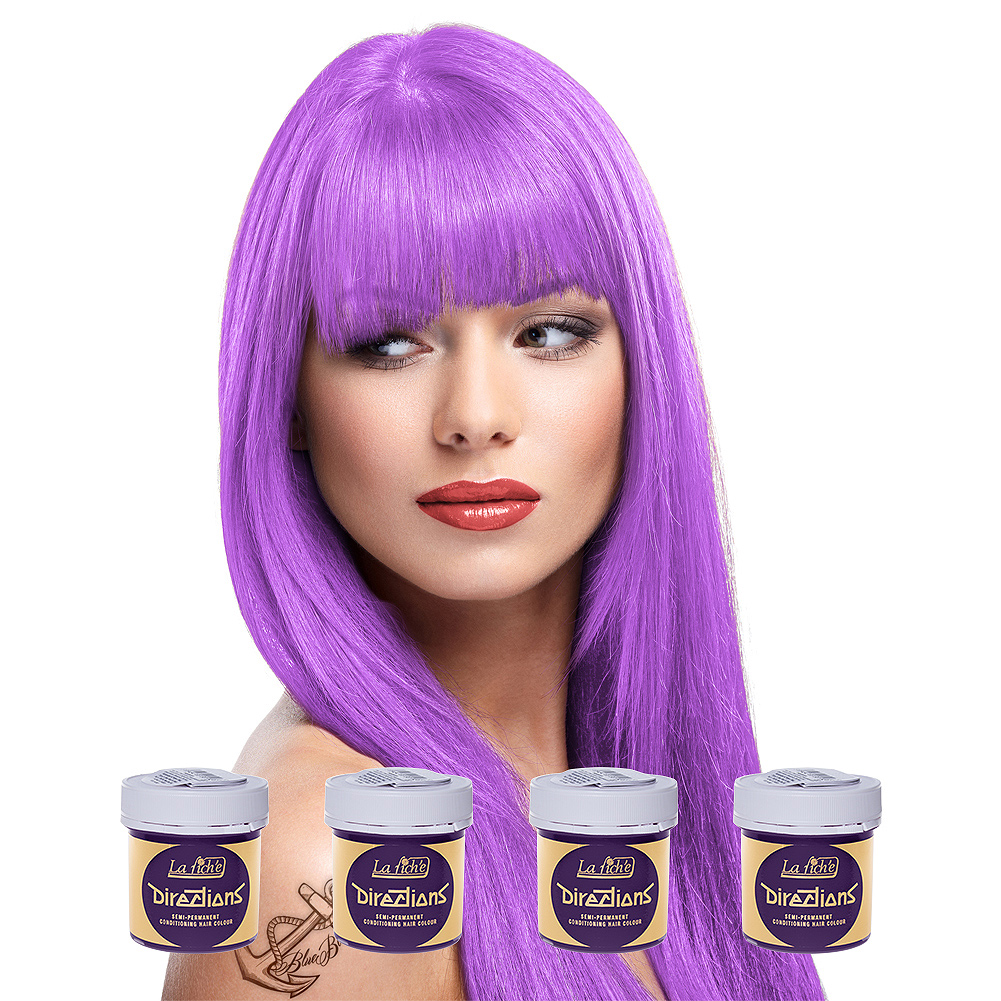 La Riche Directions Pack De 4 Colorations Semi Permanentes + 1 Brosse De Teinture Offerte (Lavender)
