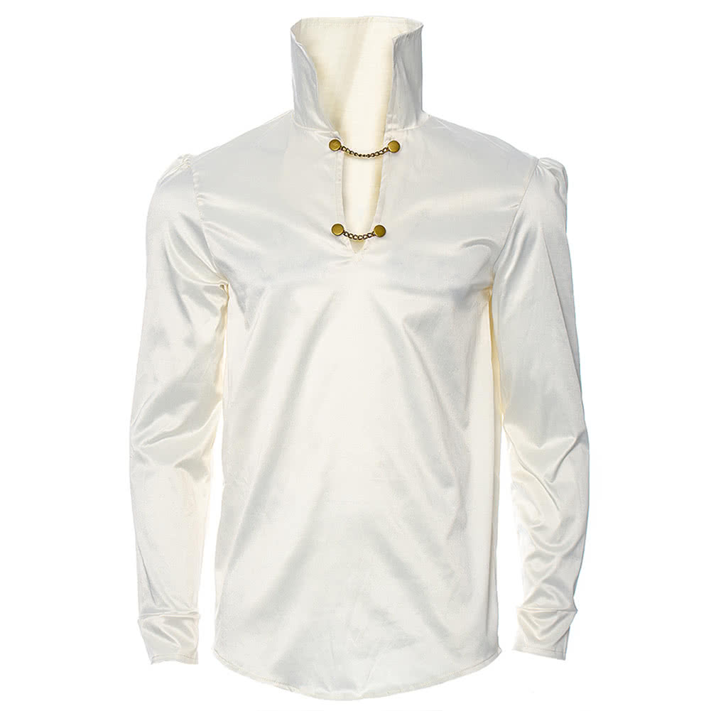 Golden Steampunk Hansel Chain Shirt (Cream)