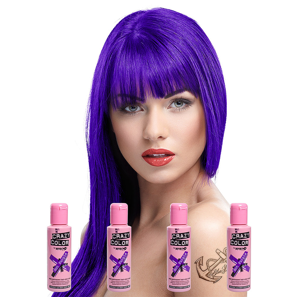Crazy Color Haartönung 4er Pack (Hot Purple - Violett)