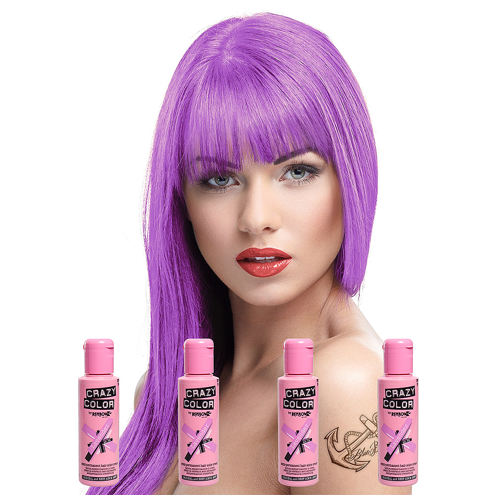 Crazy Color Pack De 4 Colorations Semi Permanentes (Lavender)