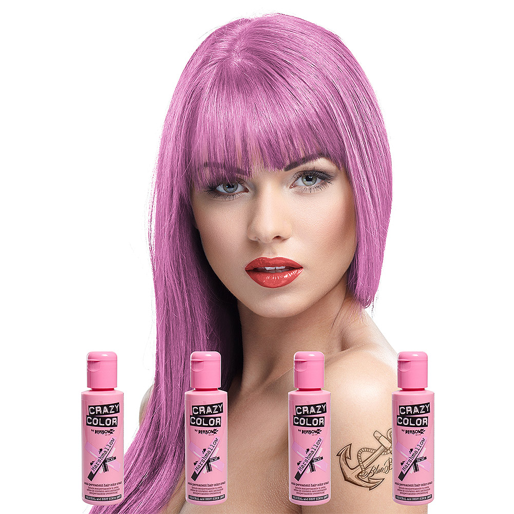Crazy Color Pack De 4 Colorations Semi-Permanentes (Marshmallow)