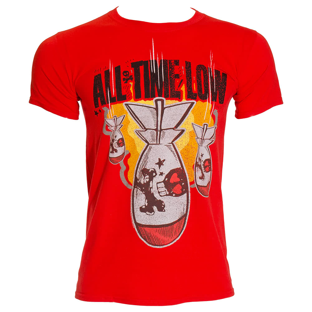Official All Time Low Dabomb T Shirt (Red)