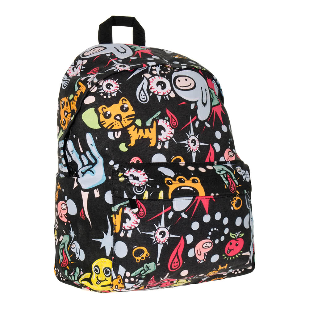 4102f8be31 Bleeding Heart Canvas Monster Print Rucksack