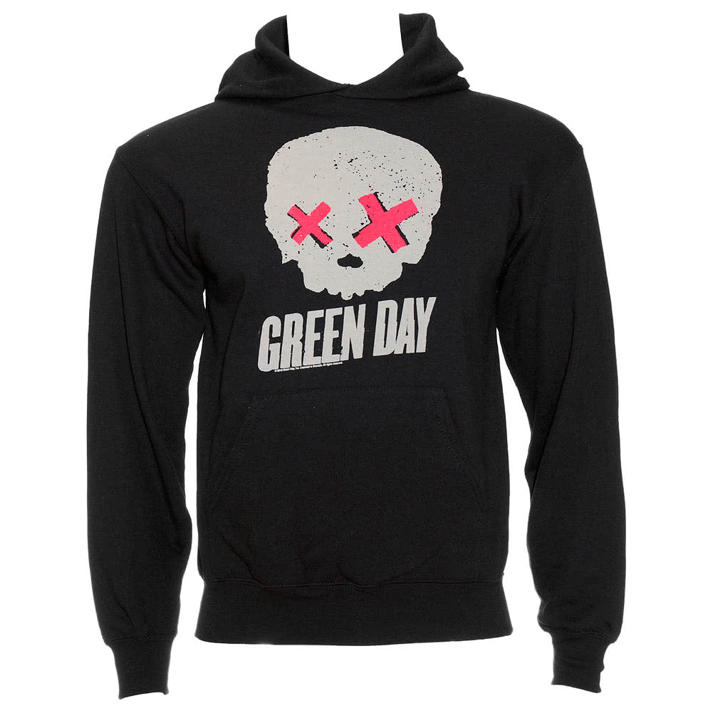 Green Day Skull Kapuzenshirt (Grey)