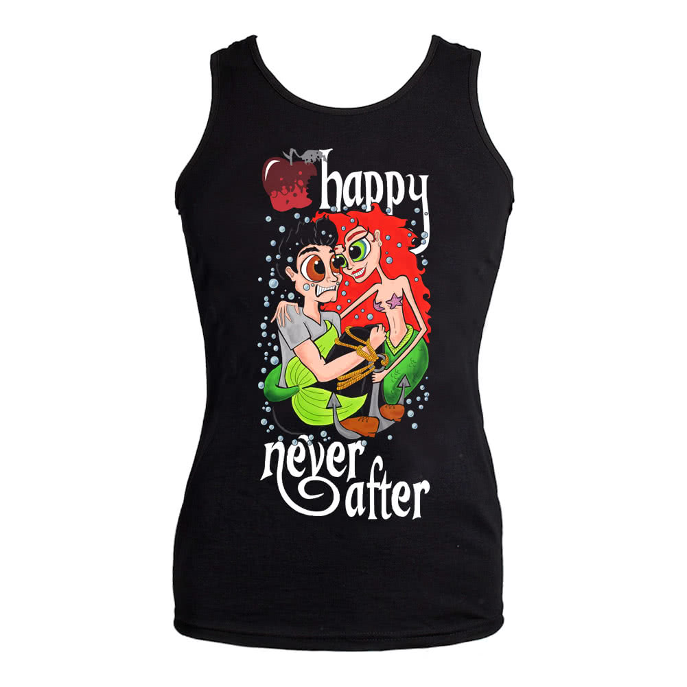 Happy Never After Mermaid Vest Top (Black)