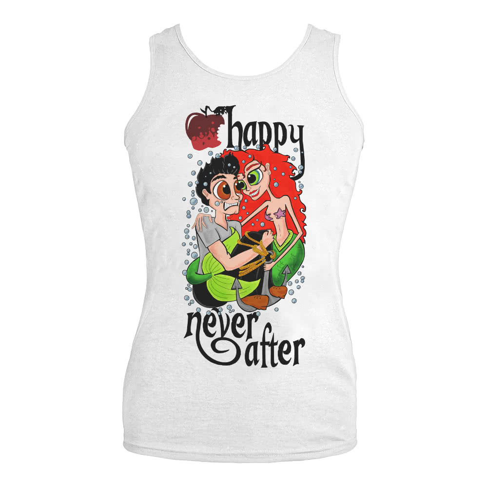 Happy Never After Mermaid Vest Top (White)