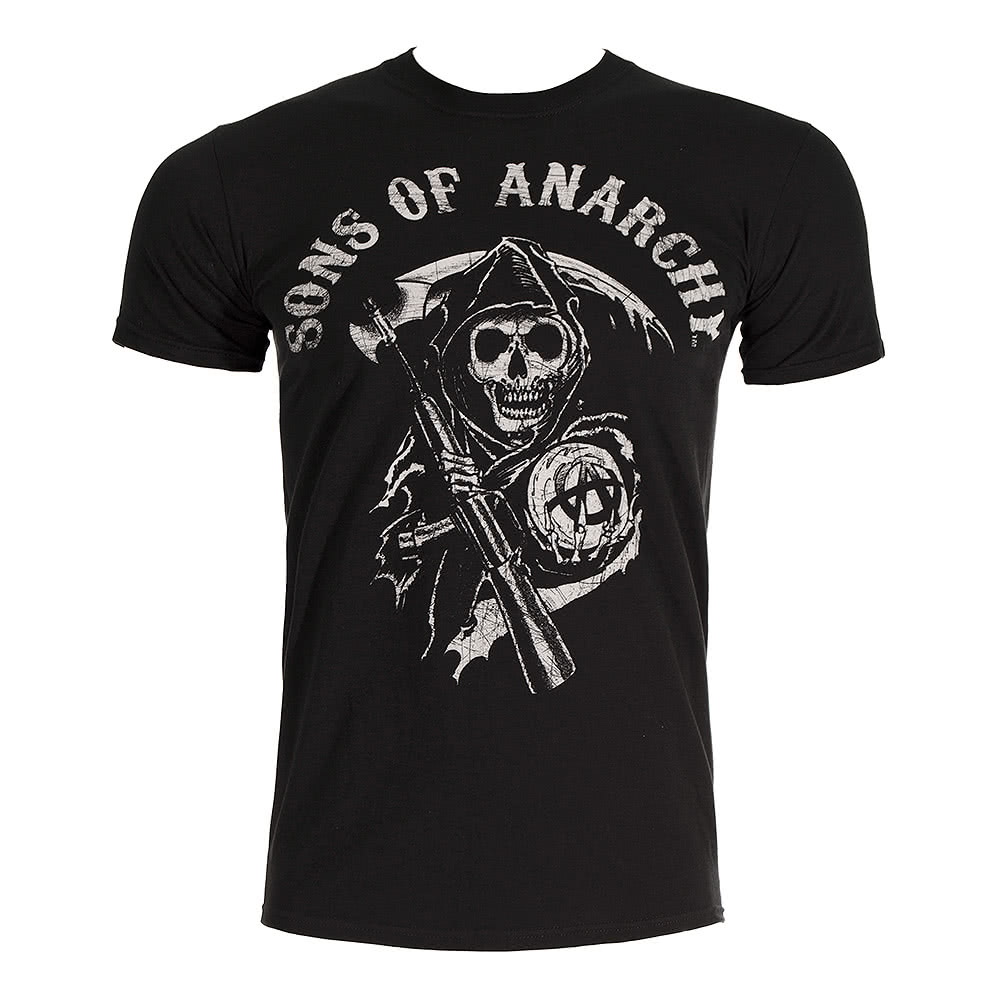 Sons Of Anarchy Main Logo T Shirt (Black)