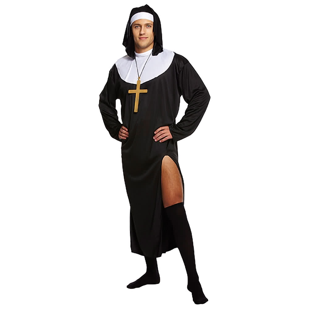 Costume Fancy Dress Da Uomo Nun (Nero)