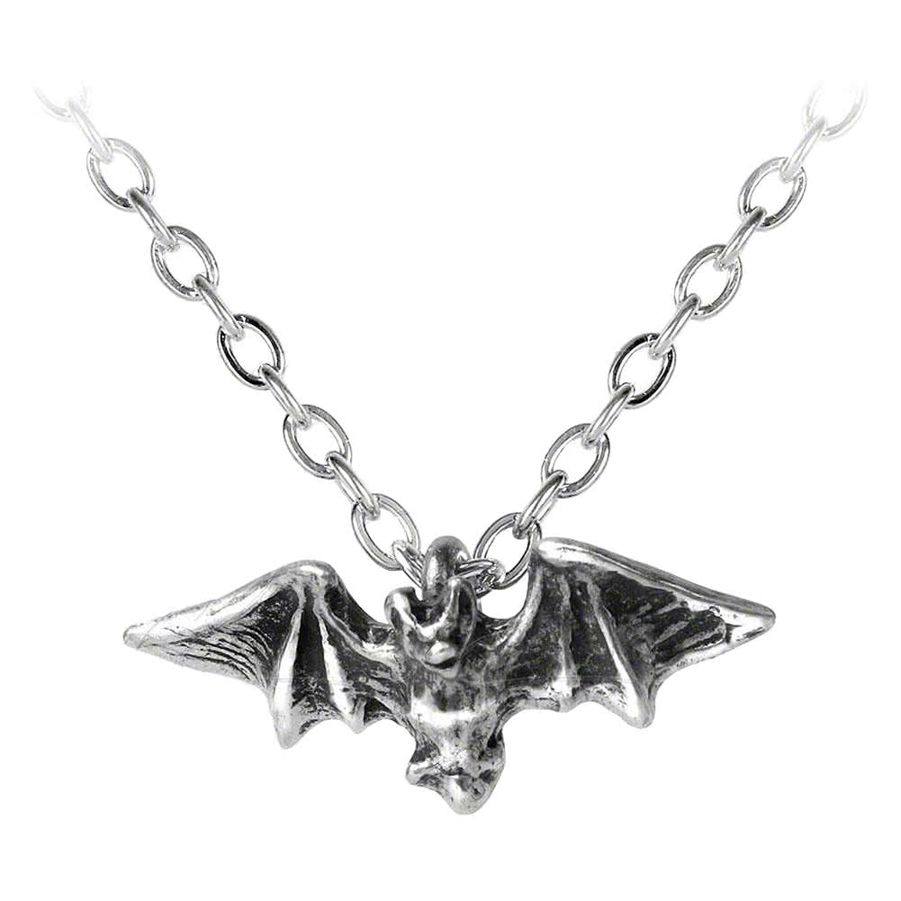 Alchemy Gothic Kiss Of The Night Pendant Necklace (Silver)