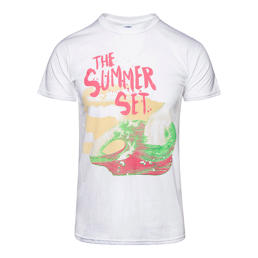 "Camiseta de manga corta ""ola"" de The Summer Set (Blanco)"