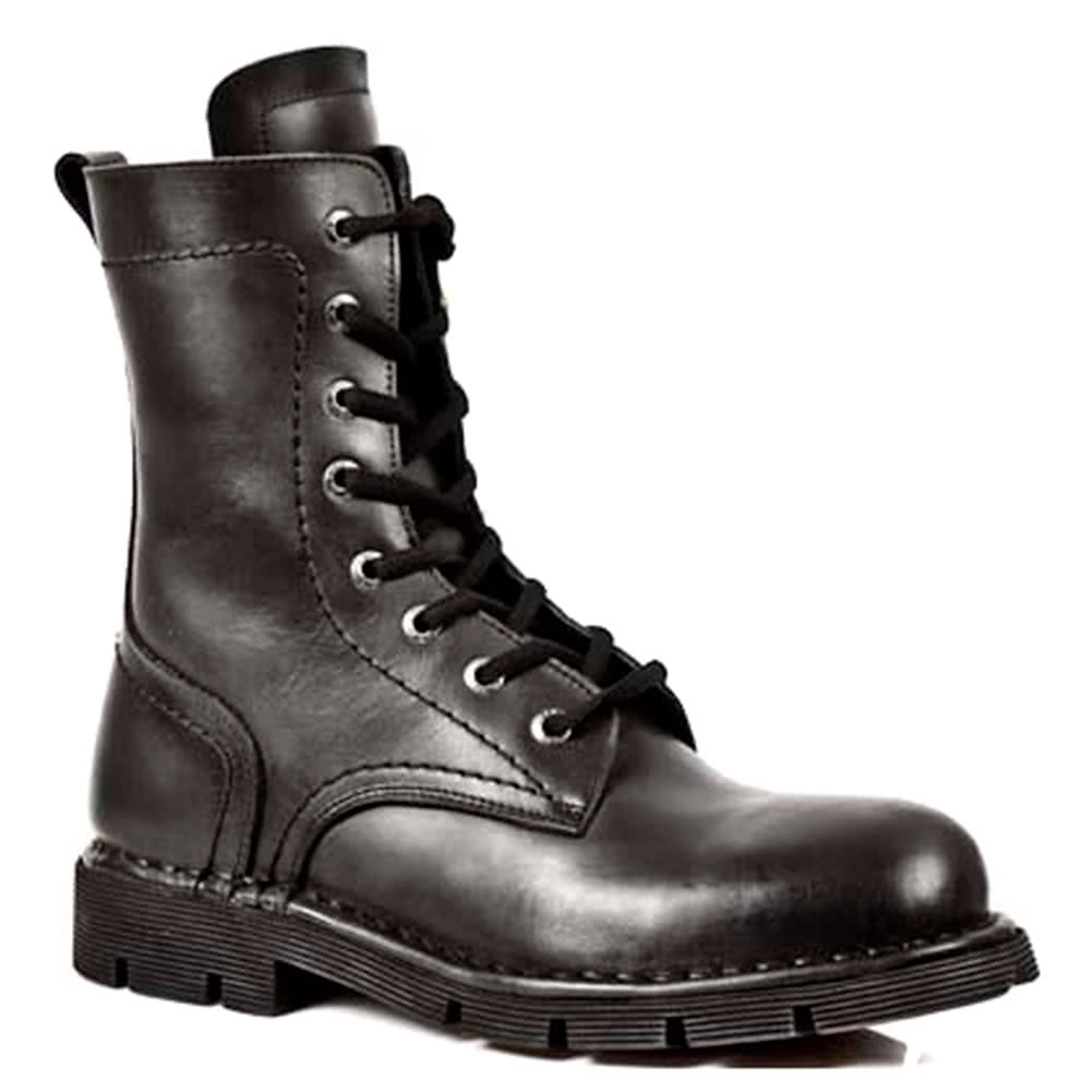 New Rock M.1423-S1 Comfort Light Half Boots (Black)