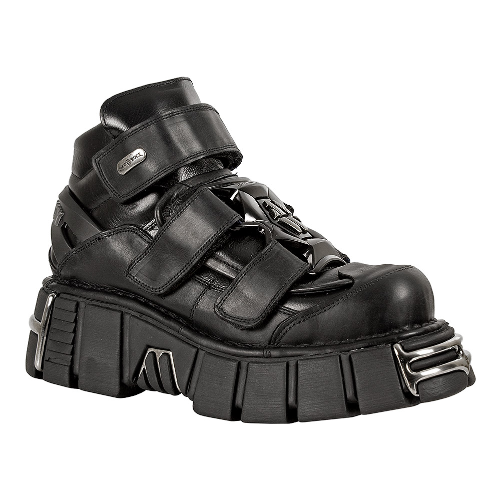 New Rock M.285-S1 Tower Shoes (Black)