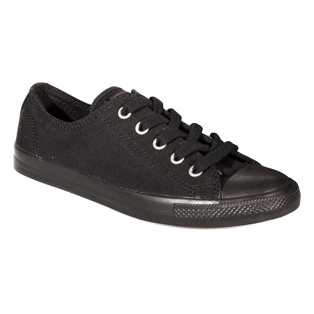 Converse All Star Ladies Dainty Mono Black Canvas Trainers 63d4acfe4