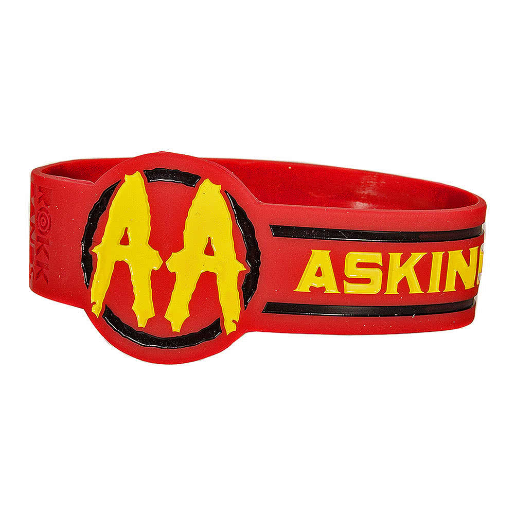 Official Asking Alexandria Circle Wristband (Red)