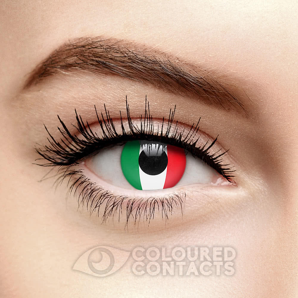 Novelty Flag 90 Day Coloured Contact Lenses (Italy)