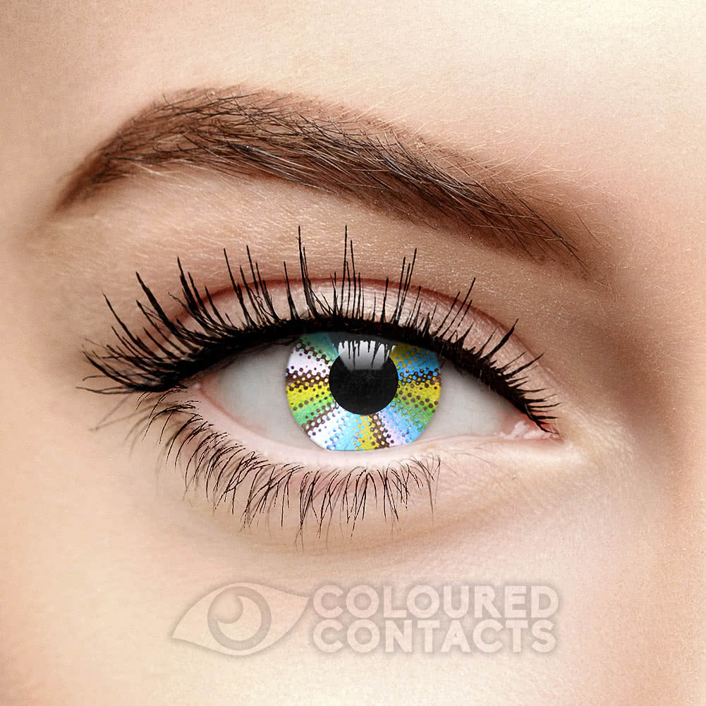 Rainbow 90 Day Coloured Contact Lenses (Multicoloured)