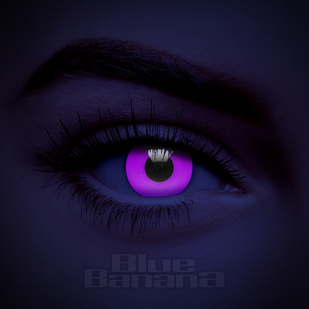 UV I-Glow 90 Day Reusable Violet Coloured Contact Lenses ...