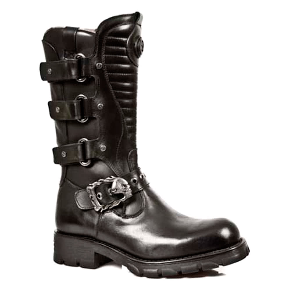 New Rock M.7604-S1 Motorcycle Boots (Black)