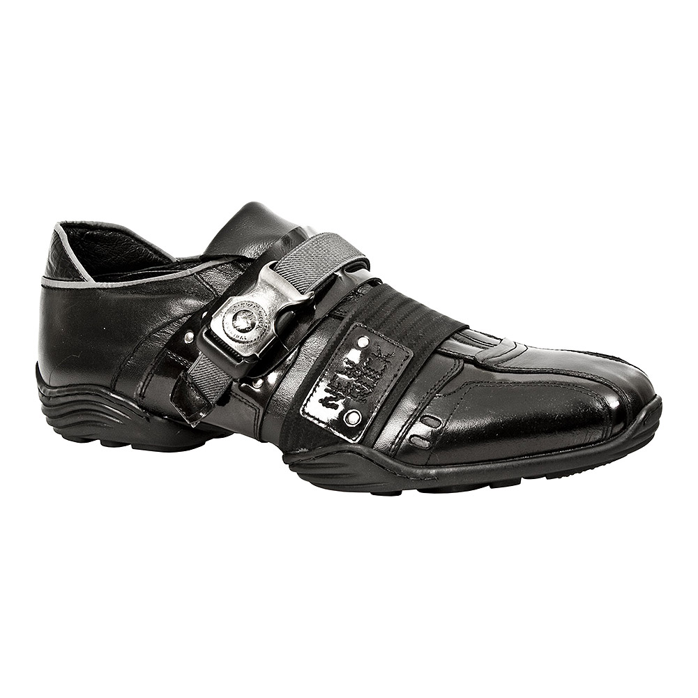 New Rock Style M.8147-S1 Metal Clasp ABS Trainers (Black)