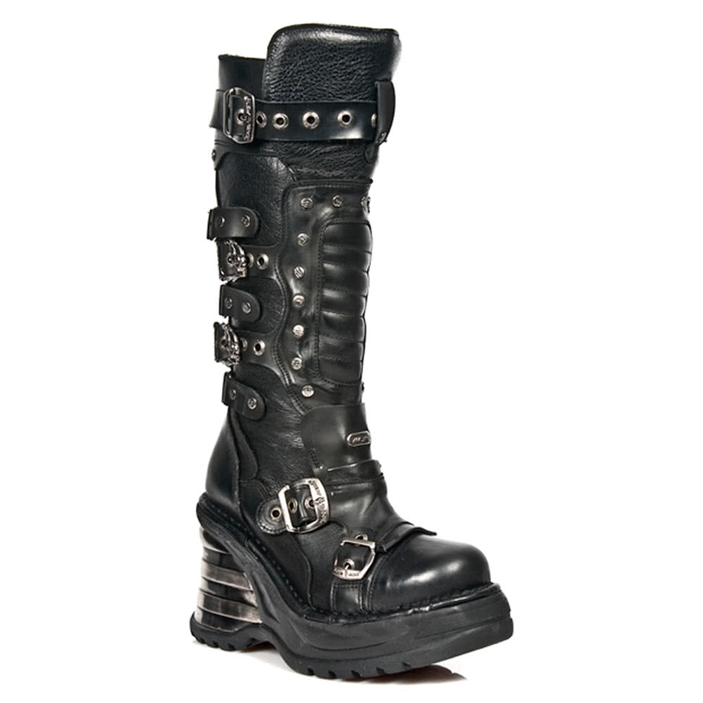 37e45b7d3c8 New Rock M.8353-S2 Platforma High Boots (Black)