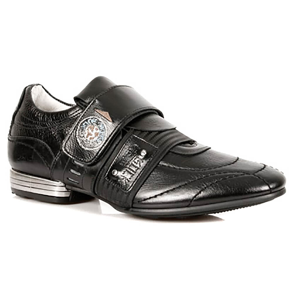 New Rock Style M.8401-S1 Velcro Strap Trainers (Black)