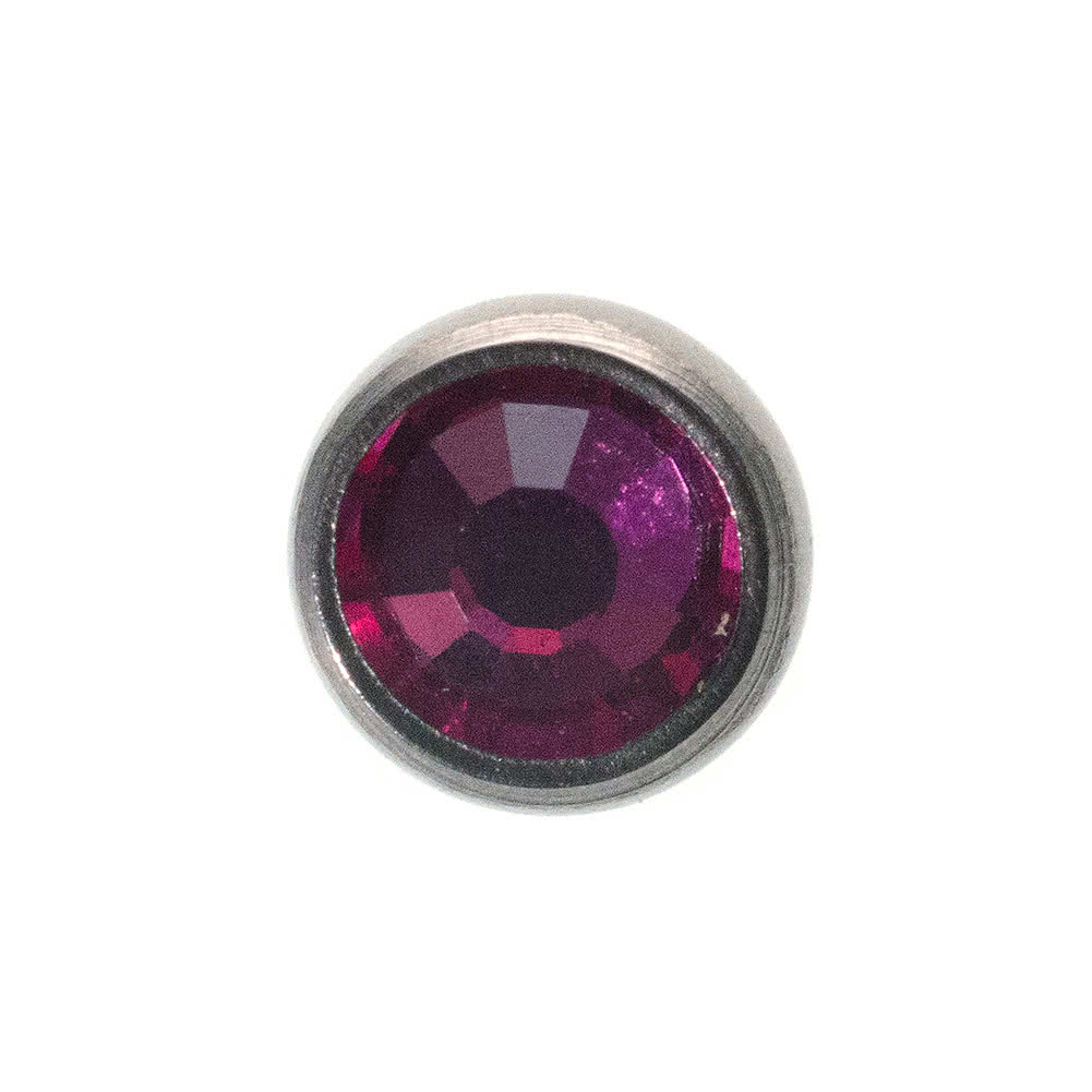 Piercing Dermal Top Blue Banana Body Piercing 4mm (Fuchsia)