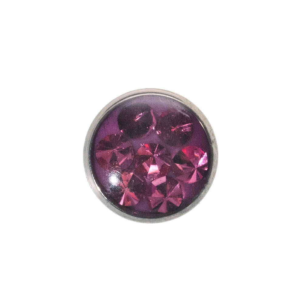 Piercing Dermal Top Glitter 5mm Blue Banana Body Piercing (Rosa)